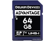 Карта памяти Delkin Devices Advantage SDXC 64GB 633X UHS-I V30 [DDSDW63364GB]