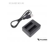 Fujimi 2AHDBT-401USB Зарядное устройство USB для двух АКБ GP H4B(GoPro4)