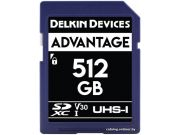 Карта памяти Delkin Devices Advantage SDXC 512GB 633X UHS-I V30 [DDSDW633512G]