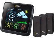 Метеостанция Bresser National Geographic VA с цветным дисплеем и тремя черными датчиками