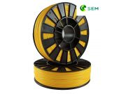 ABS пластик 1,75 SEM желтый 0,8 кг