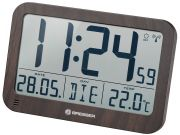 Часы настенные/настольные Bresser MyTime MC LCD в корпусе под дерево