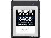 Карта памяти Delkin Devices Premium XQD 64GB 2933X 440R/400W [DDXQD-64GB]