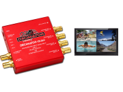 Decimator QUAD: 3G/HD/SD-SDI Quad Split Multi-Viewer, SD-SDI, Comp. Outputs