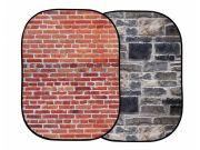 Фон складной Lastolite LL LB5711 Urban Красный кирпич/Серый камень(1,5х2,1м)